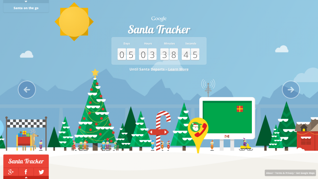 Google Maps Santa Tracker.