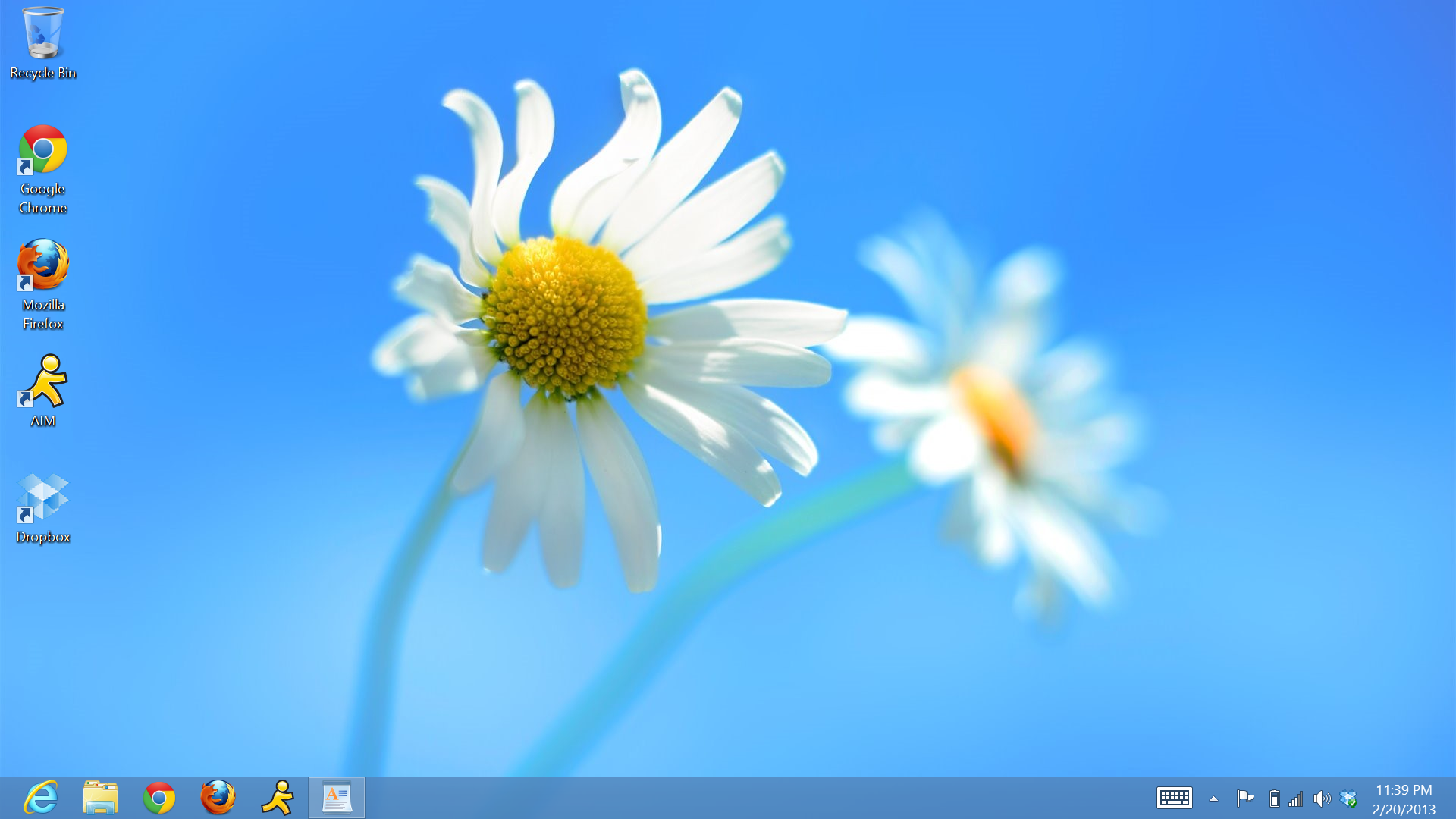 Windows 8 desktop interface.
