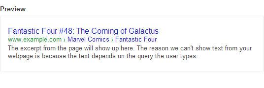 Screenshot of breadcrumbs in Google search results.