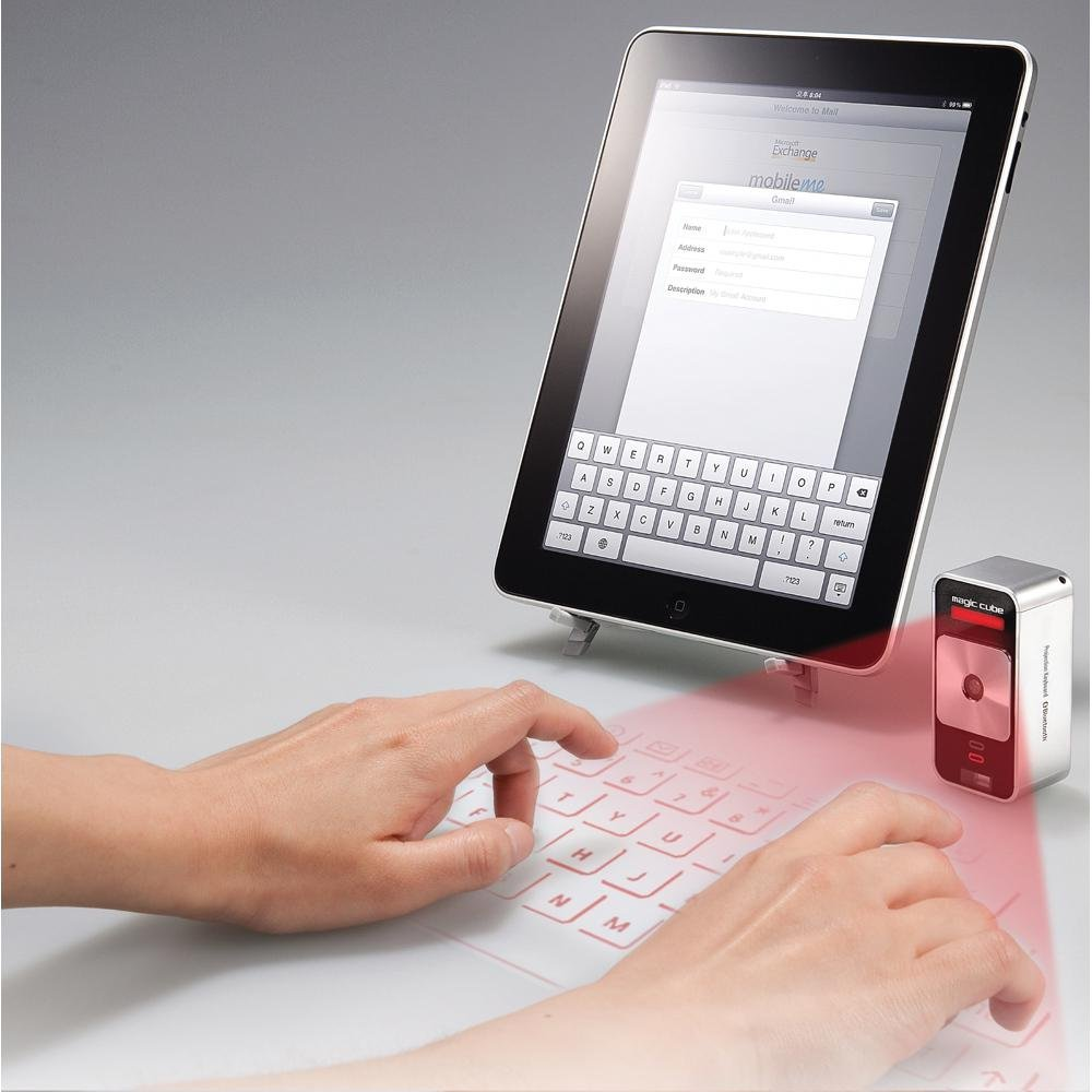 Tech Gift Idea: Celluon Magic Cube Laser Projection Keyboard.
