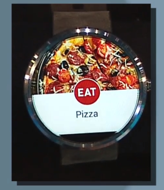Google I/O 2014: Ordering a pizza from your watch.