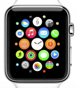 The Apple Watch homescreen.